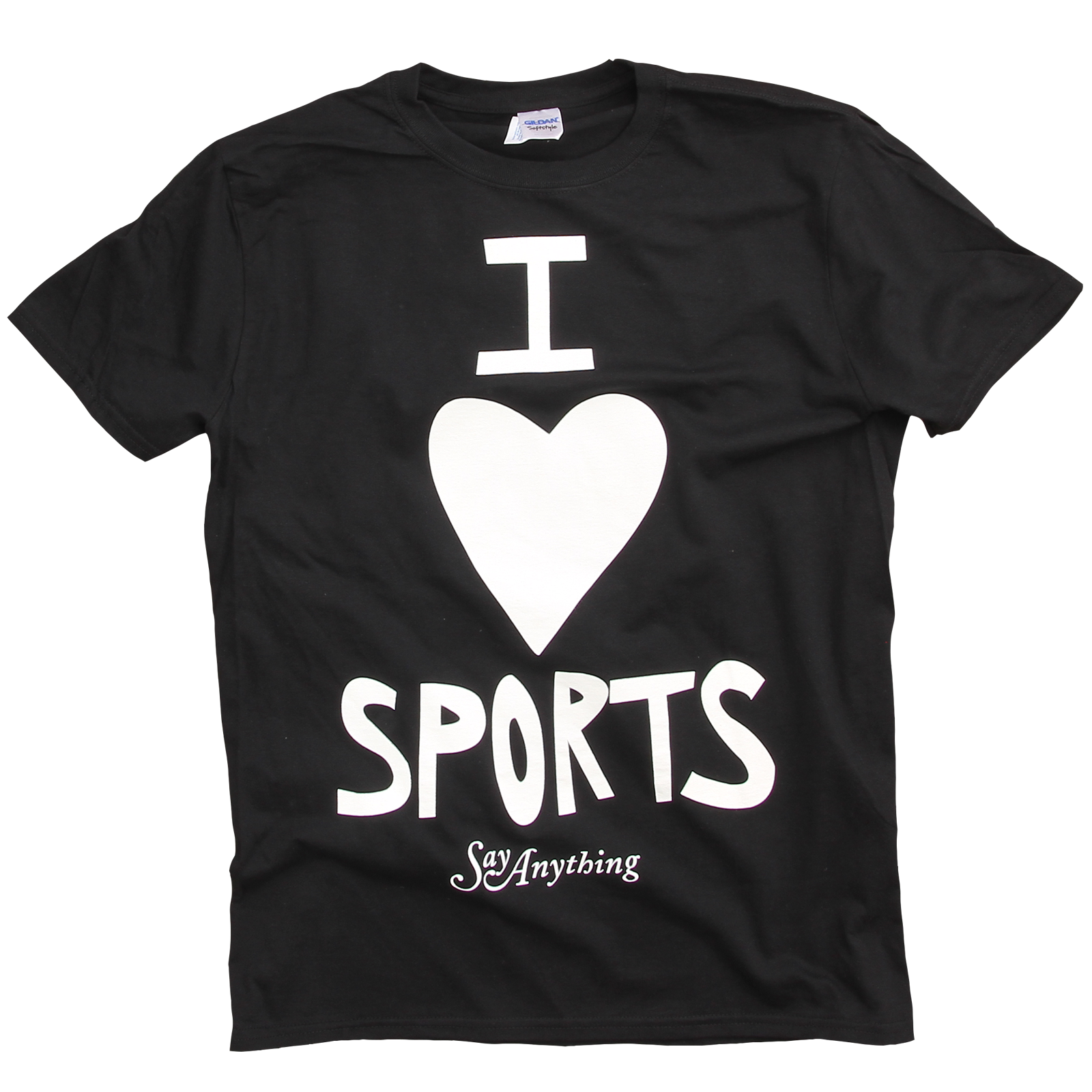 say anything i love sports black t shirt