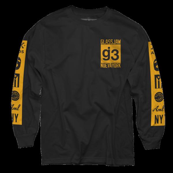 KKBB black gold mas logos long sleeve t-shirt