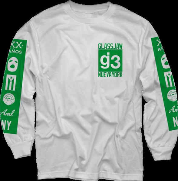 OCG mas logos white long sleeve t-shirt