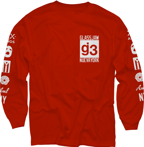 CB mas logos red long sleeve t-shirt