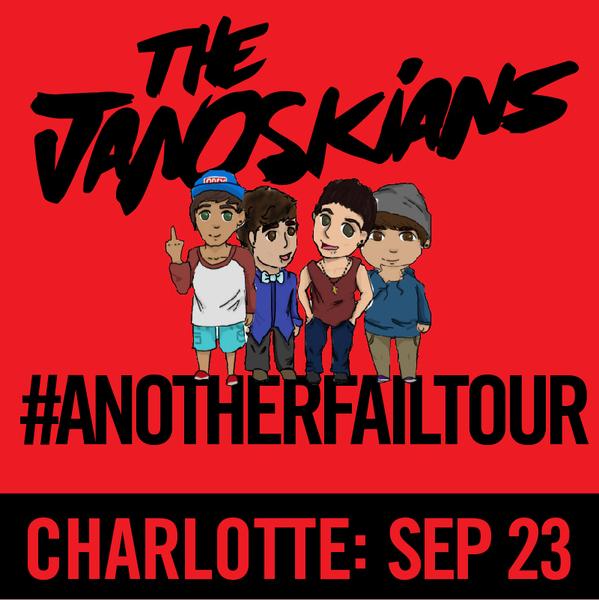 Janoskians: #AnotherFailTour - Charlotte, NC