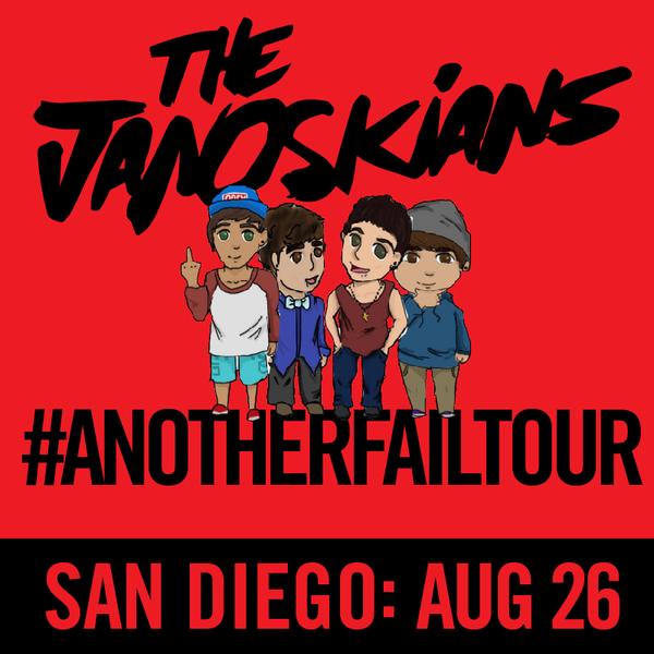 Janoskians: #AnotherFailTour - San Diego, CA