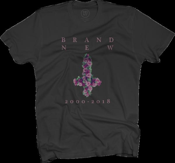 Flower Cross Black T-Shirt
