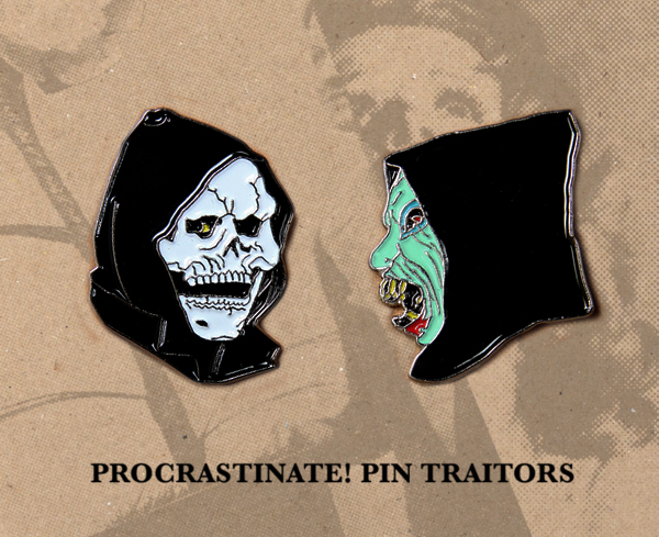 Devil & God Enamel Pins
