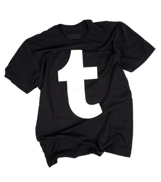 """White Tumblr """"t"""" Tee"""
