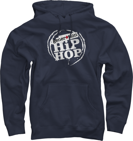 Generation Hip Hop 100% Cotton Hoody - Navy Blue