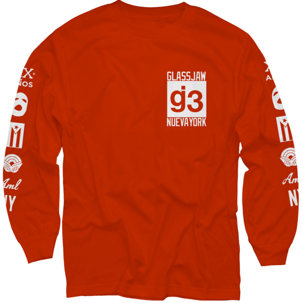 CB mas logos red long sleeve t-shirt
