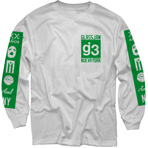 OCG mas logos white long sleeve t-shirt