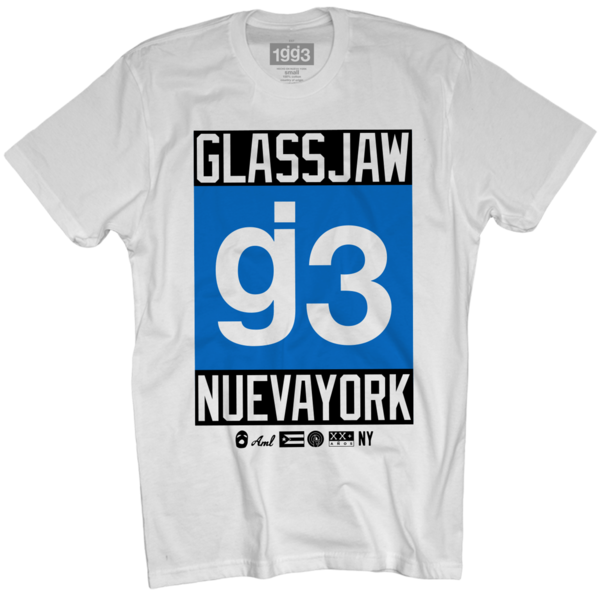 EYEWTKAS g3 Blue Nueva York White T-Shirt