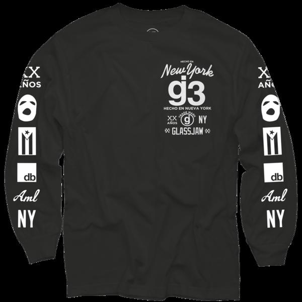 g3 mas logos black long sleeve t-shirt