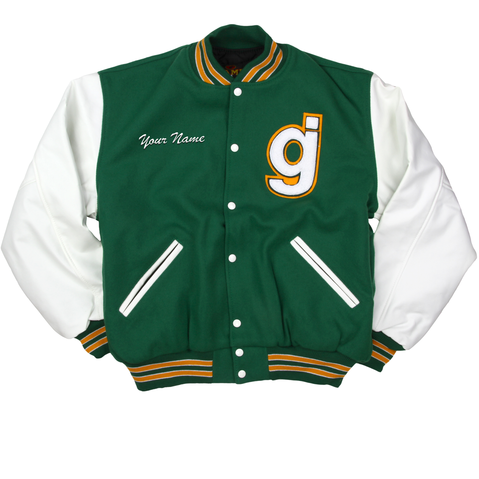 Embroidered varsity glassjaw