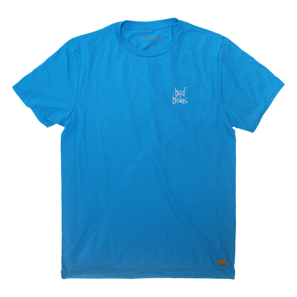 Embroidered Neon Blue T-Shirt