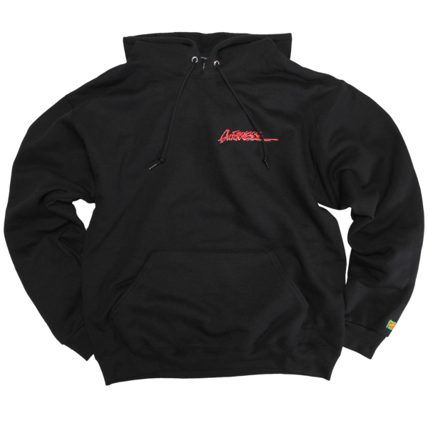 Embroidered Quickness Black Pullover