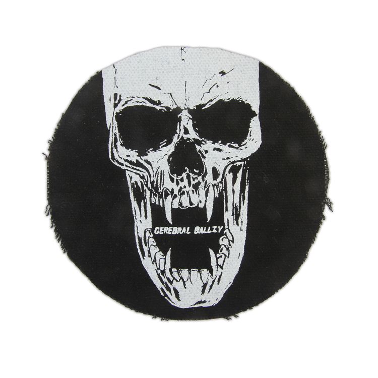 Cerebral Ballzy Denim Skull Patch