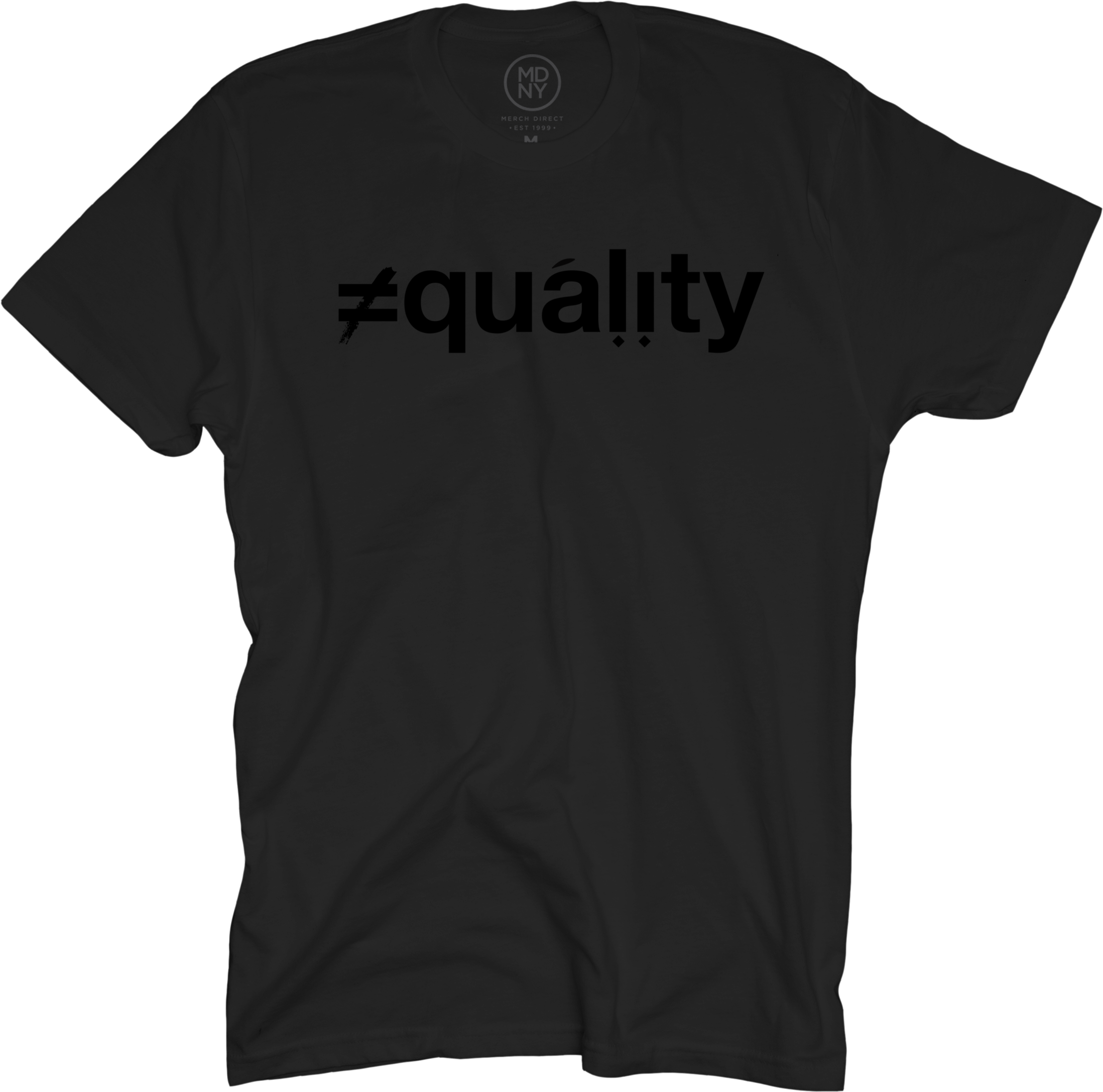 Ali Shaheed - Equality Black on Black T-Shirt
